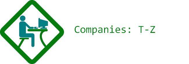 List Of Homeworking Companies T-Z